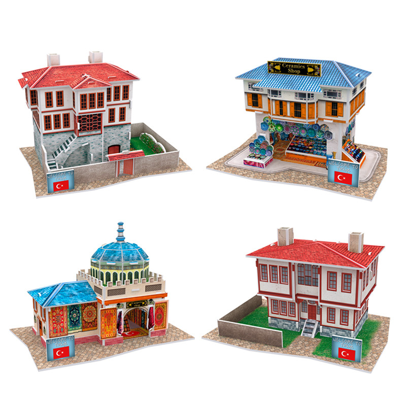CubicFun World Buildings Paper Model Toy DIY 3D Japan UK Italy Architecture Puzzle Kits Educational Kids Toys In Card Building Sets From