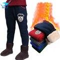 M & f 2016 de invierno baby boy pantalones leggings niños pantalones espesar caliente suave, además de terciopelo pantalones de los cabritos ropa para adolescentes 3-14y