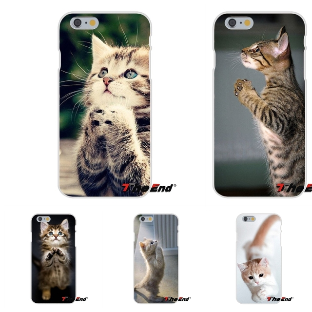 Love Cute Praying Kittens Cats For iPhone X 4 4S 5 5S 5C SE 6 6S 7 8 Plus Galaxy Grand Core Prime Alpha Soft Case Silicone Cover