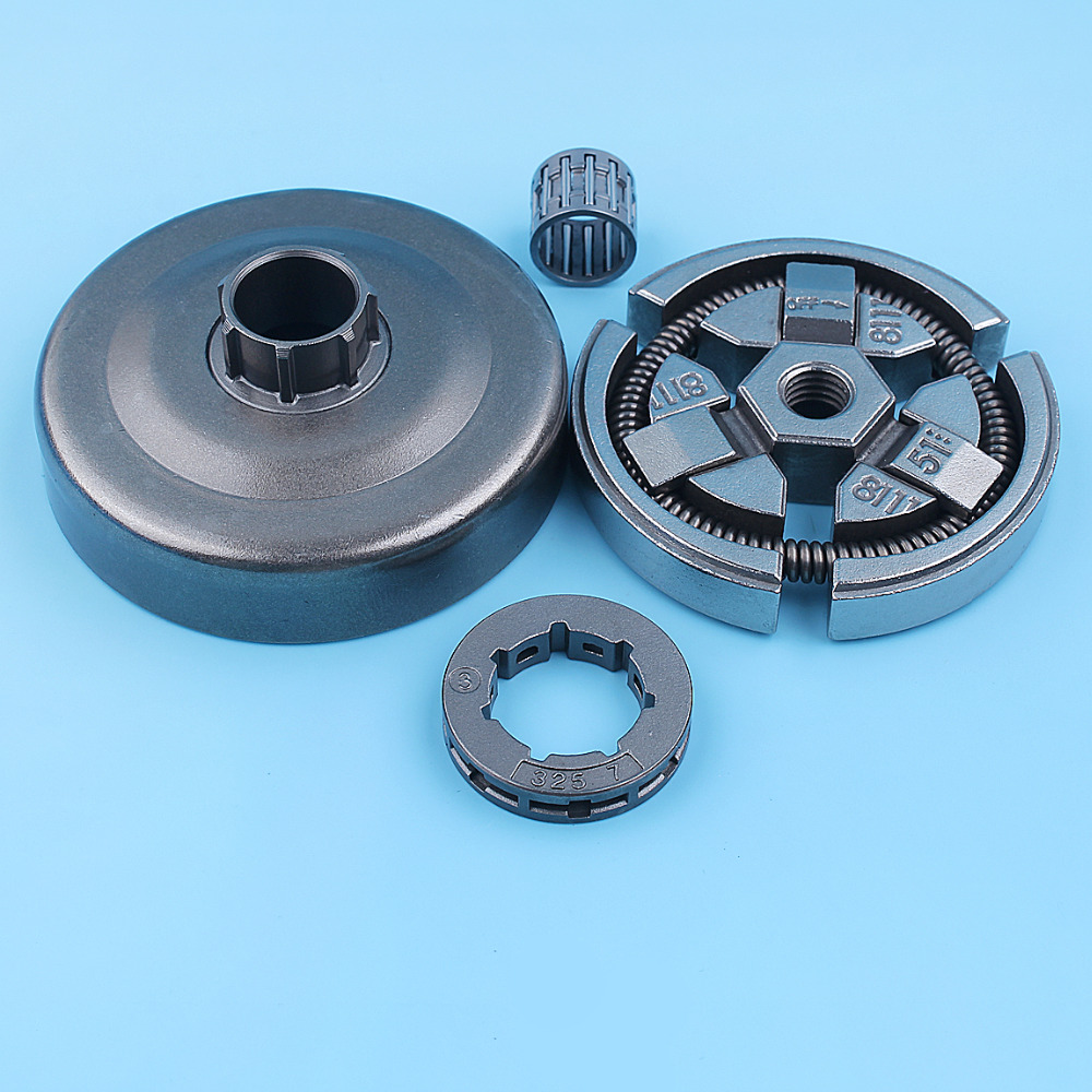 325inch Clutch Drum Bell Rim Sprocket Bearing Kit For Husqvarna 262XP 262 261 Chainsaw 503577101 3-Shoe Type Needle Cage