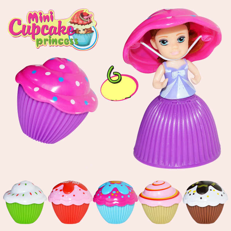 1PC Mini Cupcake Princess Doll Kids Creative Transformed Scented Beautiful Toy Children Plastic Playing House Game Toys