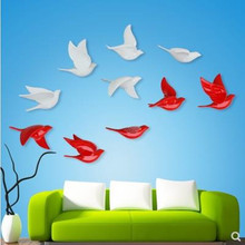 Wall stickers, beautiful swallow birds, wall decoration crafts, home office gifts