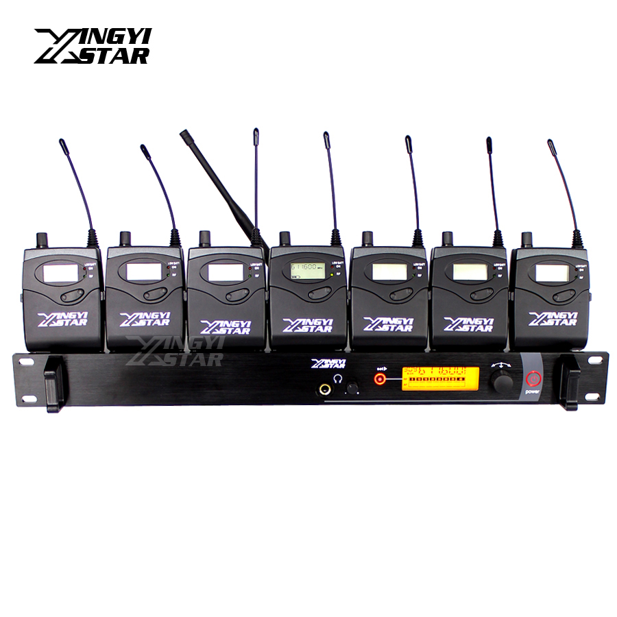 SR2000 Professional Monitoring UHF Wireless In Ear Earphone Stage Monitor System One Transmitter With 7 Receivers in Earphones ukingmei uk 2050 wireless in ear monitor system sr 2050 iem personal in ear stage monitoring 2 transmitter 2 receivers