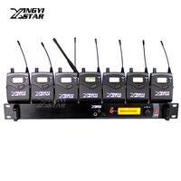 Sr2000 Профессиональный Мониторы ing UHF Беспроводной в ухо наушник этап Мониторы Системы один передатчик с 7 приемники в Наушники