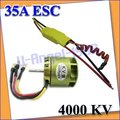 1set RC Brushless Motor For Trex 450 450SE V2 & 35A ESC Heli+accept Paypal +Free shipping