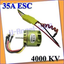 1set RC Brushless Motor For Trex 450 450SE V2 35A ESC Heli accept Paypal Free shipping