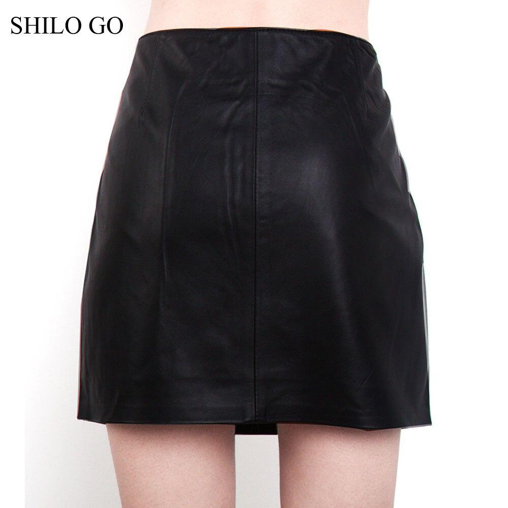 En Shilo Véritable Noir Aller Haute Taille Mode Automne Une Jupe Concise Ol De Femmes Mouton Peau Bureau Ligne Cuir 5rHqwr
