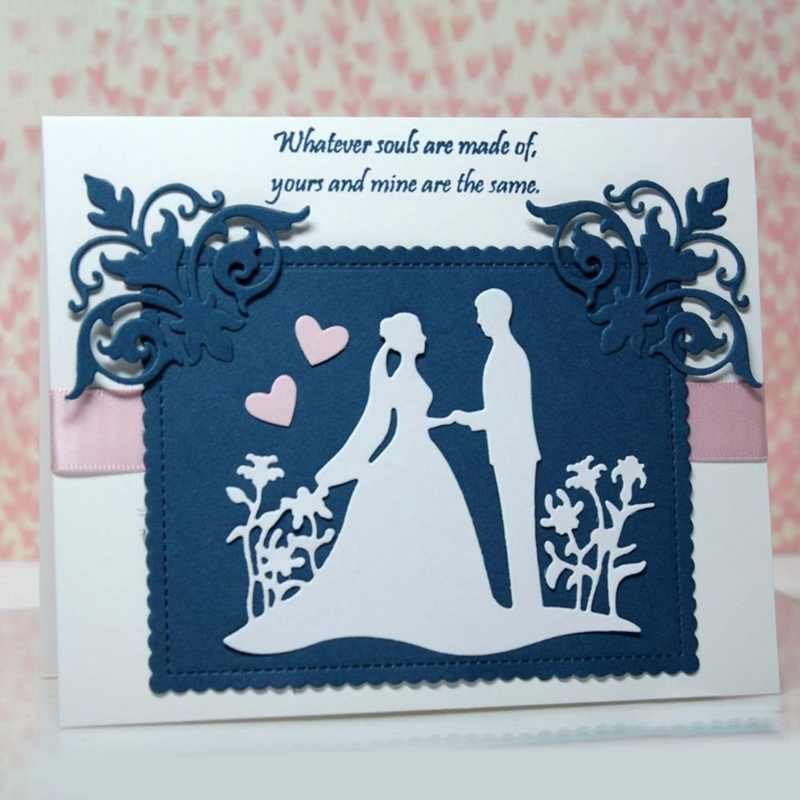 Wedding Stamps Steel Embossing Craft Supplies Stencil Mold