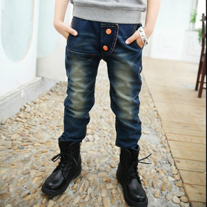 Image 2 - 男の子パンツ秋の子供のジーンズ 2019 春の少年の子供鉛筆のズボン。適正: 4 6 8 10 12 14 歳