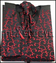 Wholesale cheap men's suits high quality fancy swirl waistcoat 4pcs