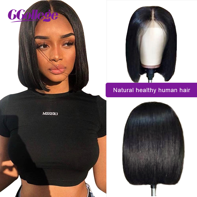 13 4 Bob Lace Front Human Hair Wigs For Women Brazilian Straight Lace Frontal Wig With