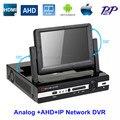 АХД DVR 4 Канал 8 Канал 7 ''Высокий Определение ЖК-Экран DVR ноутбук Формы Видео Рекордер Для AHD Камеры Ip-камера Аналоговые камера
