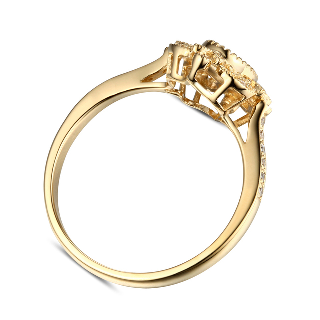 5x7mm Oval Solitaire 14K Yellow Gold Engagement Ring