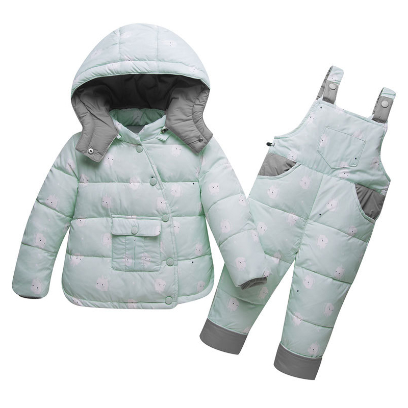 fa21fcc73 BEKE MATA Baby Winter Coats Girls Set 2018 Thick Warm Kids Down ...