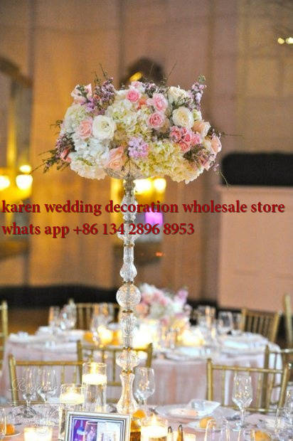 20pcs Top Grade Acrylic Crystal Wedding Centerpiece With Candle