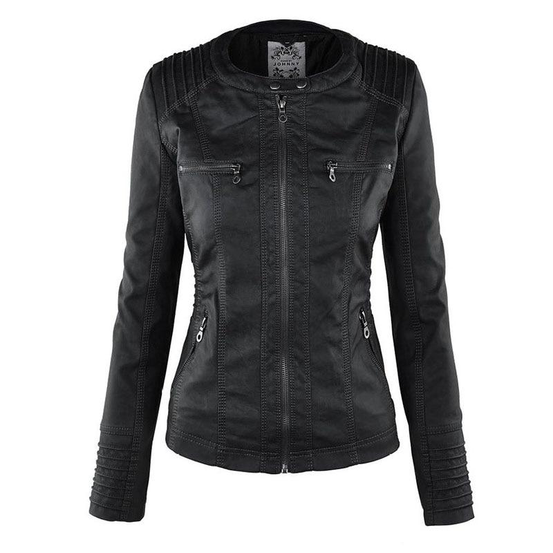 HTB1ZQVPaVP7gK0jSZFjq6A5aXXal Faux Leather Jacket Women 2021 Basic Jacket Coat Female Winter Motorcycle Jacket Faux Leather Suede PU Zipper Hoodies Outerwear