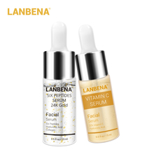 Lanbena Vitamin C Serum+six Peptides Serum 24k Gold Anti-aging Moisturizing Skin Care Whitening Brighten Beauty