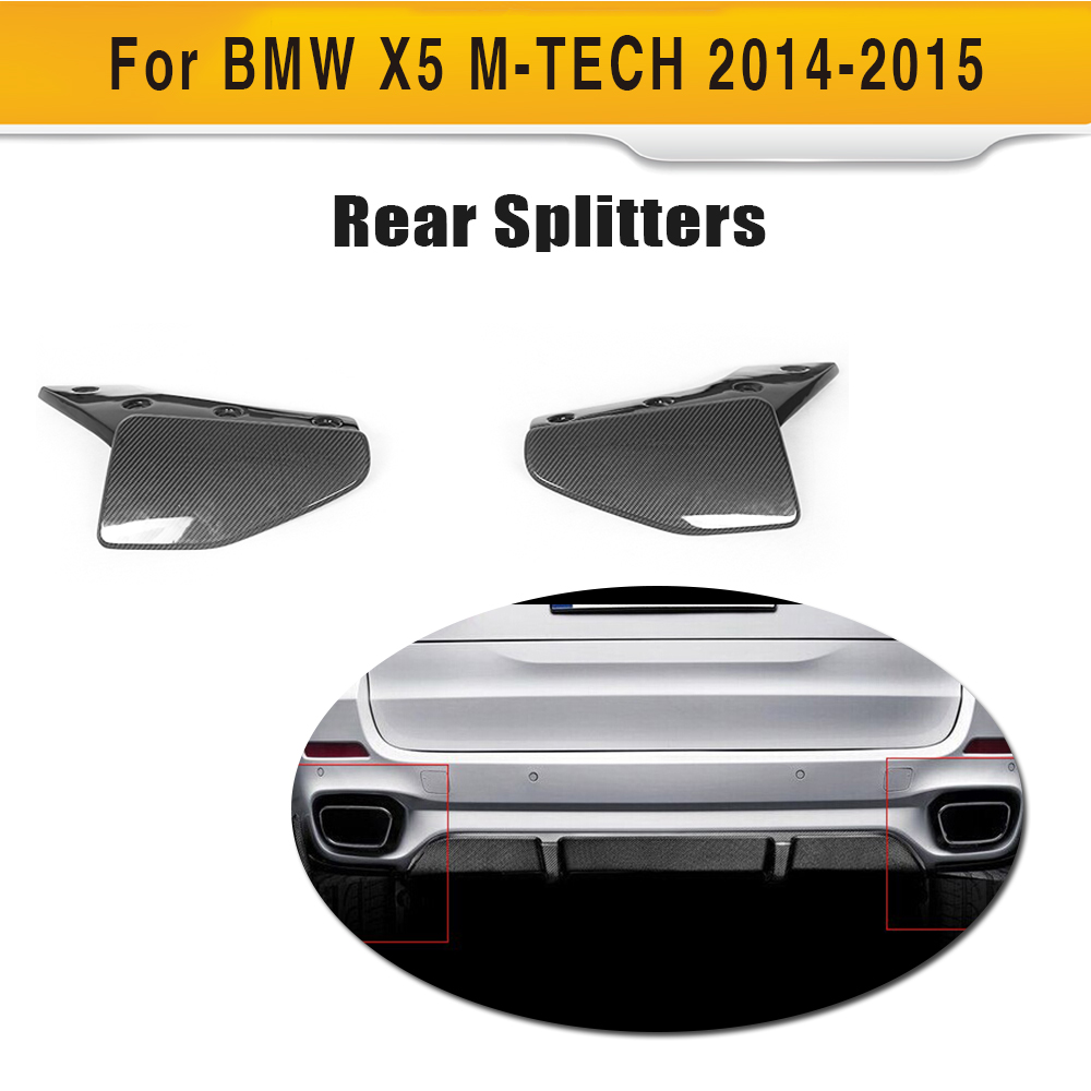 carbon fiber front bumper splitters rear bumper lip spoiler apron For BMW F15 X5 M tech 2014-2015
