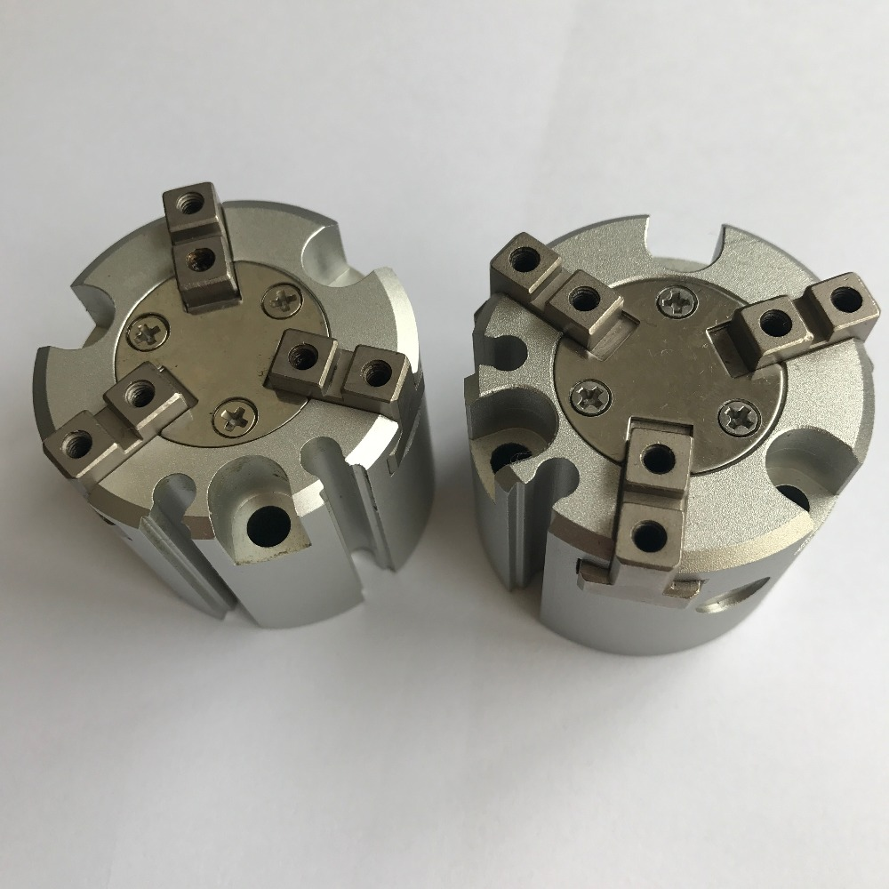 bore 32mm SMC type MHS3 series double action Three finger pneumatic cylinder air gripper mhs3 16d 20d 25d 32d 40d 50d 63d 80d 100d 125d parallel style air gripper 3 finger double action rotating cylinder bore 16 125mm