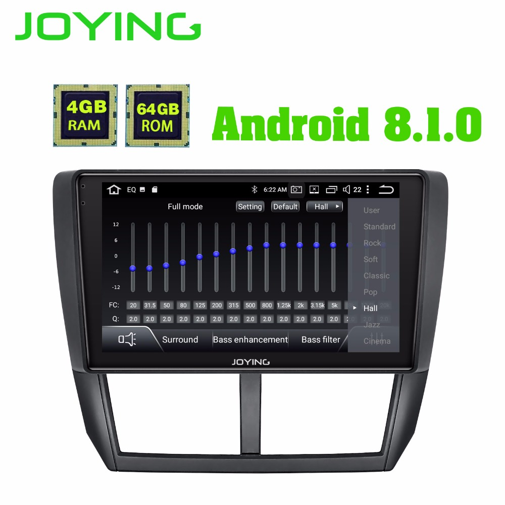 "9"" IPS 4GB+64GB DSP Android Car Radio Stereo Audio GPS Navigation Head Unit For Subaru Forester 2008-2012 Multimedia Player"
