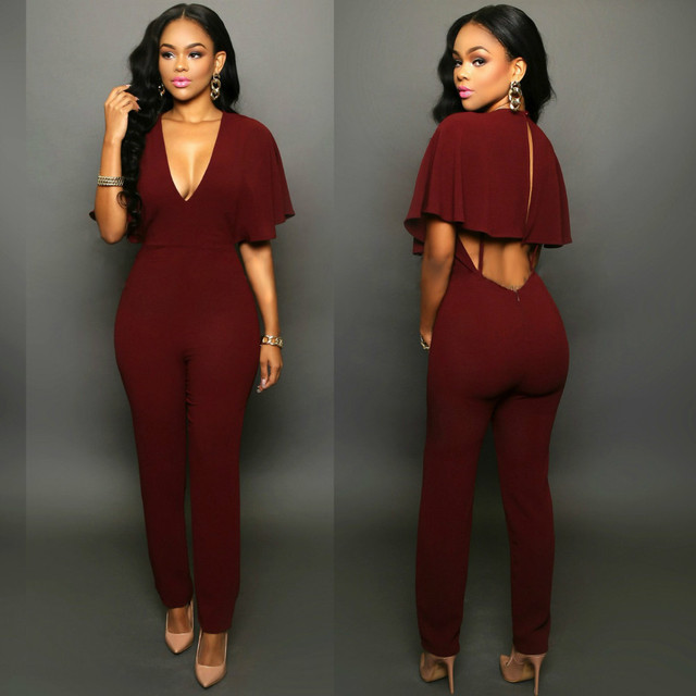 397690a06f44 2018 New Arrivals Regular Casual Fashion V-Neck Sexy Summer Rompers Womens  Jumpsuit for Women