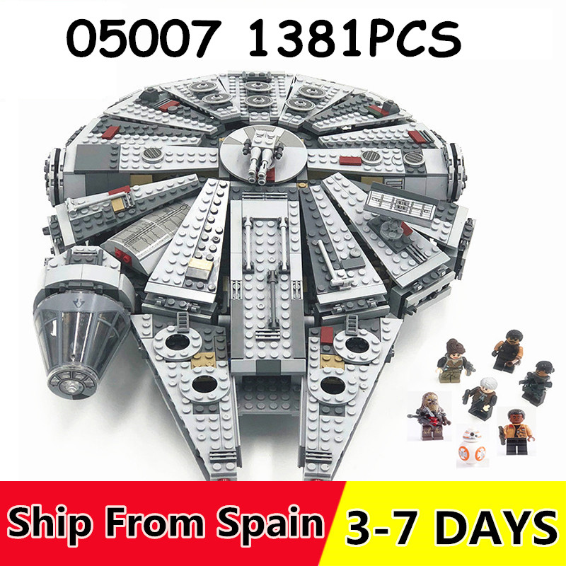 Force Awakens Star Series Wars set Millennium Falcon 1381PCS Compatible with building blocks Bricks toys for Kids 75105