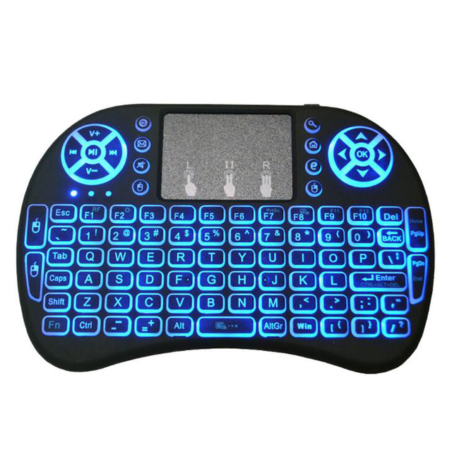 i8 Mini 2.4G Wireless Keyboard Color Backlit Air Mouse Touch pad Russian Spanish 3