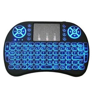 Image 4 - I8 Mini 2,4G Wireless Tastatur Touchpad Farbe Hintergrundbeleuchtung Air Mouse Russische Spanisch Arabisch Für Android TV Box Xbox Smart TV PC HTPC