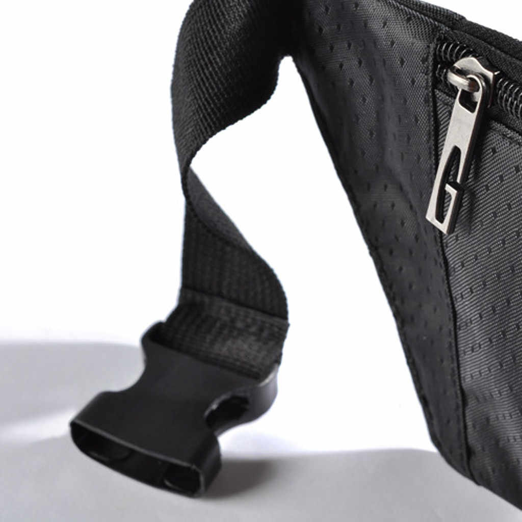 النساء الرجال الخصر حقيبة الملونة للجنسين Waistbag حقيبة بحزام سستة الحقيبة حزم حزام للماء الرياضة اللياقة البدنية الخصر حزم # #