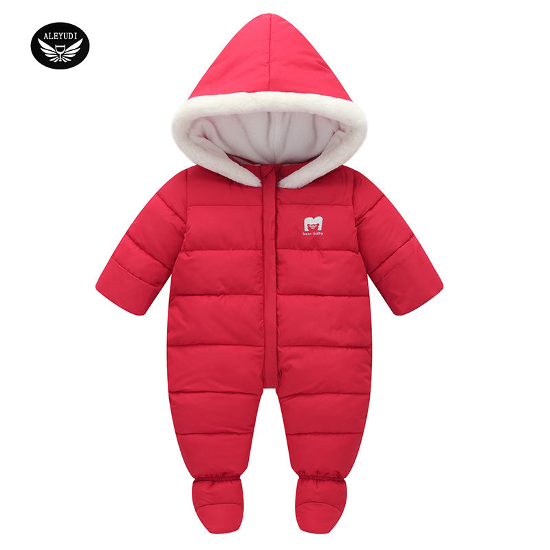 Newborn Clothes Baby Siamese Down Coat Hooded Climbing Clothes Boys and Girls Autumn and Winter Outdoor Thickened Crawl Clothing cotton baby rompers set newborn clothes baby clothing boys girls cartoon jumpsuits long sleeve overalls coveralls autumn winter