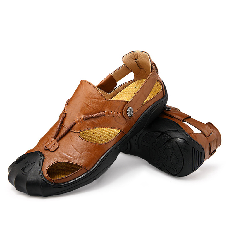 Mens Sandals Genuine Leather Summer 2018 New Beach Men Casual Shoes - Men's Shoes - Photo 4