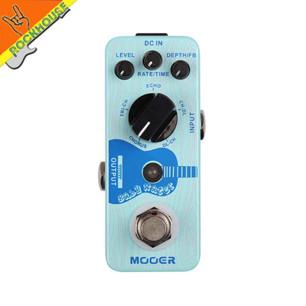 Mooer Baby Water Acoustic Guitar Delay Chorus Pedal Multi Modulation Guitar Effects Pedal 5 Modes True Bypass Free Shipping mooer ensemble queen bass chorus effects effect pedal true bypass rate knob high quality components depth knob rich sound