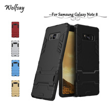 Wolfsay sFor Case Samsung Galaxy Note 8 Case Note 8 Cover Slim Robot Rubber Fundas For Phone Case Samsung Galaxy Note 8 N950F !