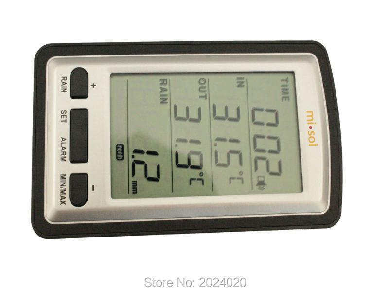 Pluviometro wireless con pluviometro con termometro, stazione - Strumenti di misura - Fotografia 2