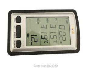 Image 2 - Wireless rain meter rain gauge w/ thermometer, Weather Station for indoor/outdoor temperature, temperature recorder
