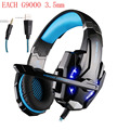 KOTION CADA G9000 3.5mm Jogo Gaming Headset Headphone Earphone Mic LEVOU luz para Laptop Tablet/PS4/Telefones celulares Pc Gamer