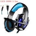 KOTION CADA G9000 3.5mm Juego Gaming Headset Auriculares Auriculares Mic LED luz para el Ordenador Portátil Tablet/PS4/Teléfonos Móviles de Pc Gamer