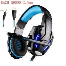 KOTION EACH G9000 3.5mm Game Gaming Headphone Headset Earphone Mic LED Light for Laptop Tablet / PS4 / Mobile Phones Pc Gamer