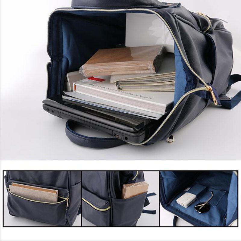 Pu Leather Ring Backpack School Bags For Teenagers Male Anello Backpack Sac A Dos Women Mochila Zaino Rucksack Seljakott #4