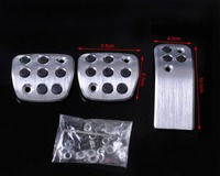 Free Shipping Tracking Sport Fuel Brake Racing MT Pedals Pads 4 Peugeot 206 206CC 207 CA00380