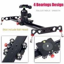 Ashanks 120cm 4 Bearings Camera Slider Track Carbon Fiber DV Camera Video Stabilizer Rail Track Slider For DSLR or Camcorder