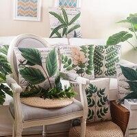 Rainforest Pozostawia Afryki Pościel Tropikalne Rośliny Kwiat Rzuć Poszewka Na Poduszkę Krzesło Obicia Kanapy