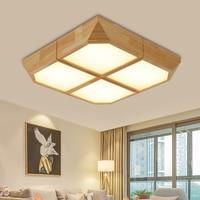 Japanese wooden Ceiling Lights square intelligent lamps and lanterns bedroom sitting room wedding room study room room LU818385