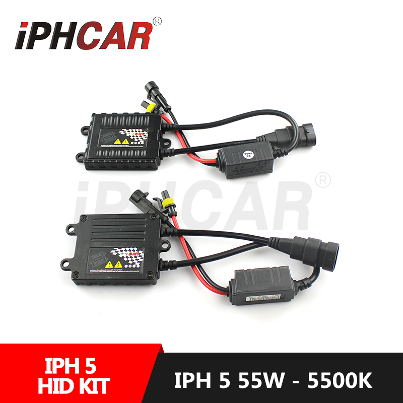 Free Shipping IPHCAR 55W Hid Kit Xenon H1 H7 H11 9004 9005 9006 9007 HID Headlight Bulbs with Ballast Car Styling Conversion Kit