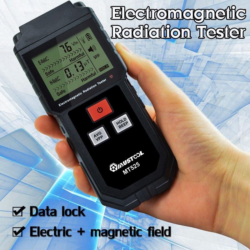 Handheld Electromagnetic Field Radiation Tester EMF Meter Counter Digital  Dosimeter LCD Detector Measurement for Computer Phone
