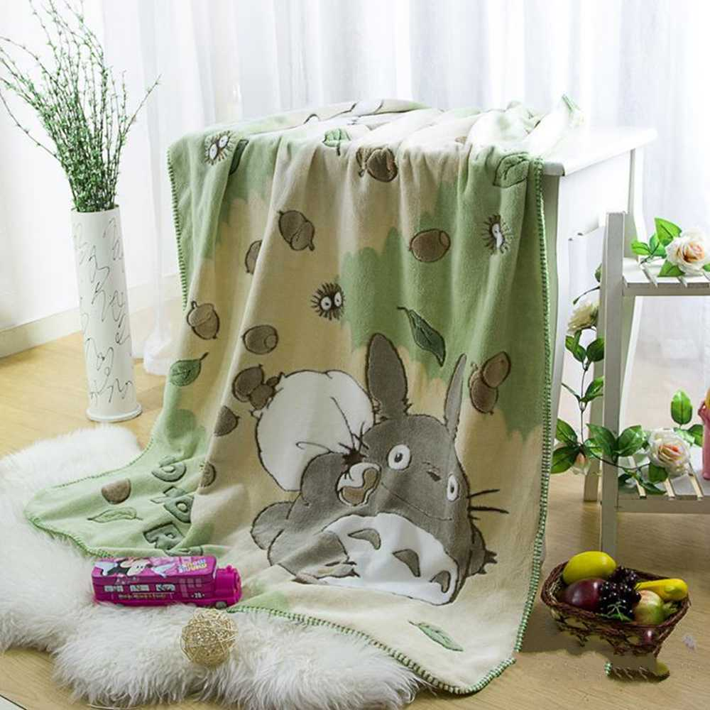 140x100cm soft My Neighborhood Totoro blanket plush kids coral fleece throw blanket   travel bed sheet quilt sofa gift