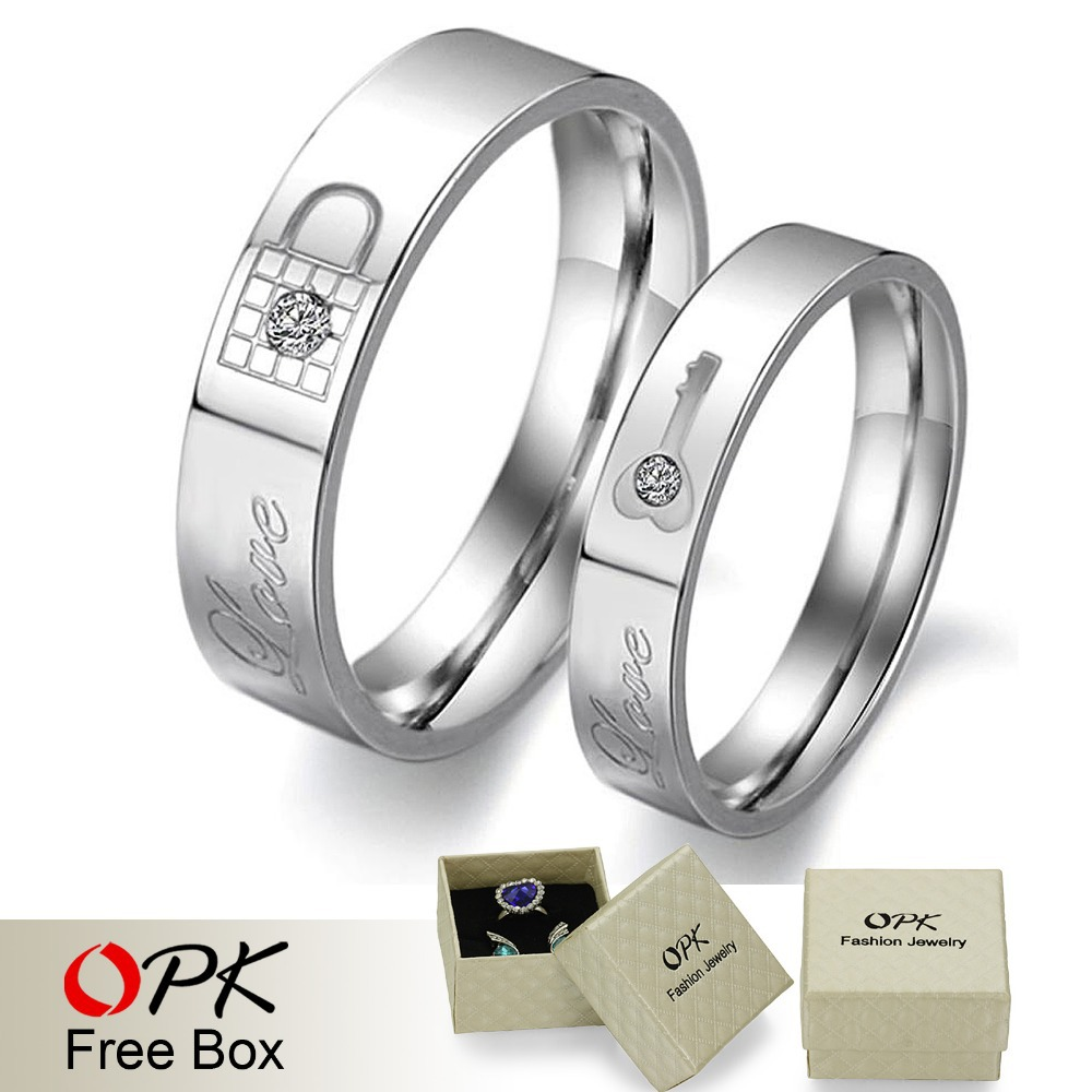 OPK Free Shipping Stainless Steel Couple Rings Korean Jewelry ...