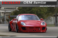 Car Styling Fiber Glass FRP Bodykits Fit For 09 12 Cayman 987 PD RB Style Wide Body Kit Bumper Fender Lip Skirts