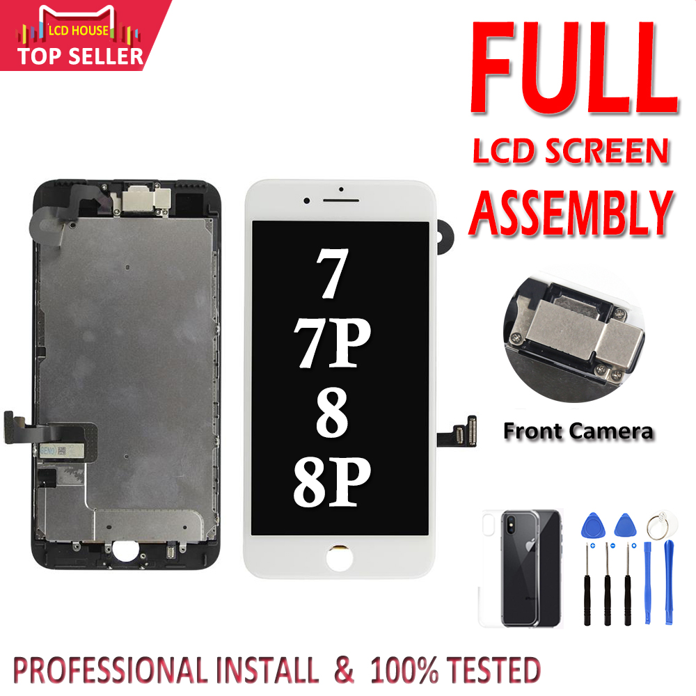 AAA Full Set For IPhone 7 8 Plus 7P 8P LCD Display Touch Screen Digitizer Assembly Replacement Complete 100% Tested Front Camera