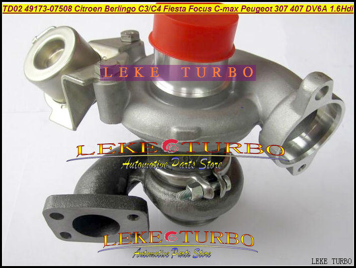 Free Ship TD02 49173-07508 49173-07503 49173-07507 Turbo For FORD Fiesta For Focus C-MAX Citroen C3 C4 Peugeot 307 407 DV6A 1.6 turbo for ford focus fiesta c max fiat scudo citroen berlingo c3 c4 peugeot 207 307 407 dv6uted4 1 6l 49173 07507 turbocharger
